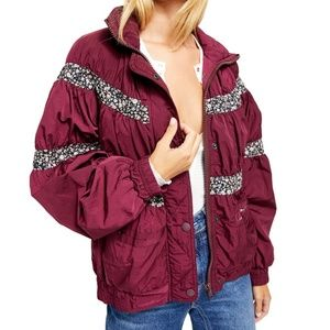 Free People On My Mind Bomber Jacket Mulberry